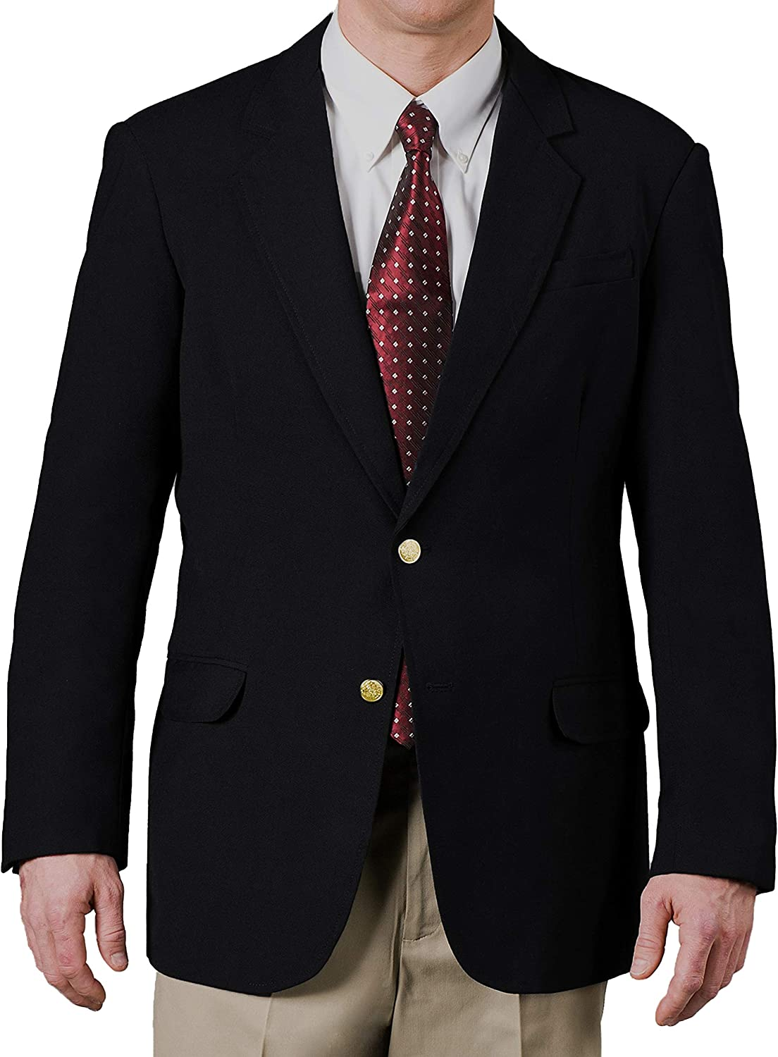 Men's Two Button Single Breasted Polyester Stretch Blazer