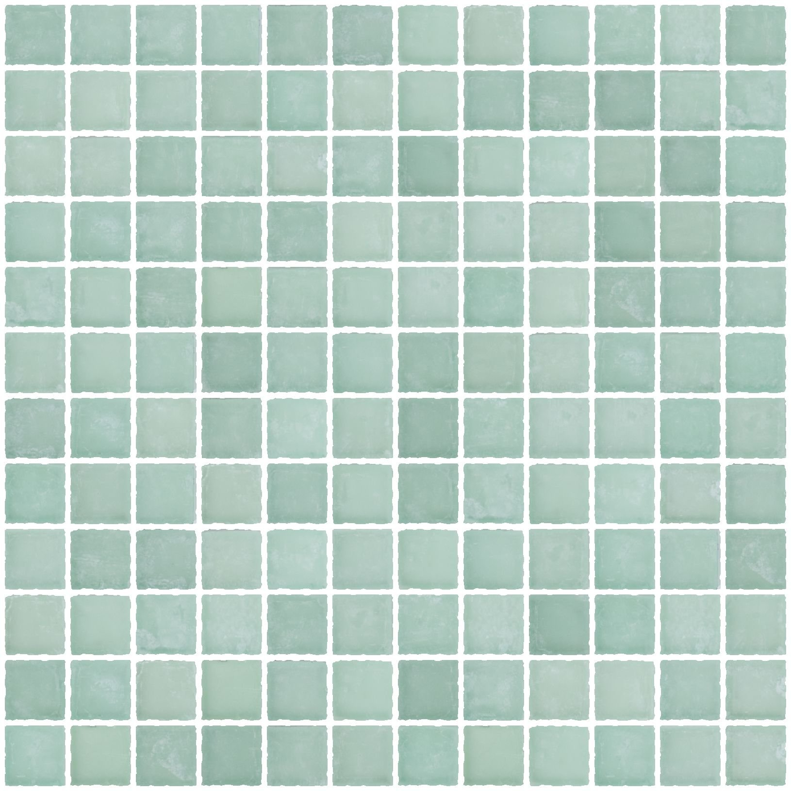 Susan Jablon Mosaics - 1 Inch Matte Sea Green Glass Tile