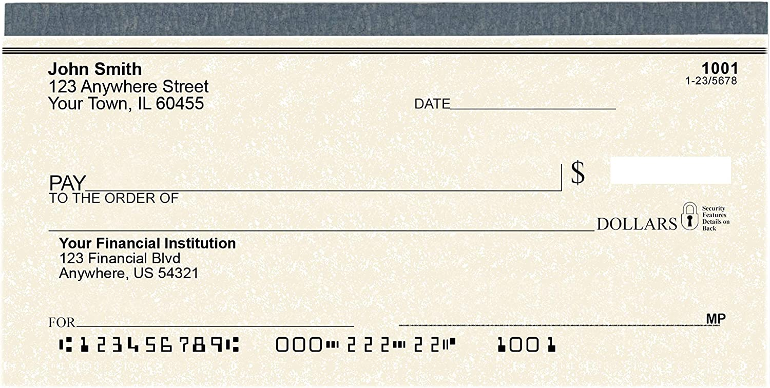 Parchment Personal Checks - Checks Personalized and Printed for Your Checking Account - 1 Box of Single Checks : Office Products