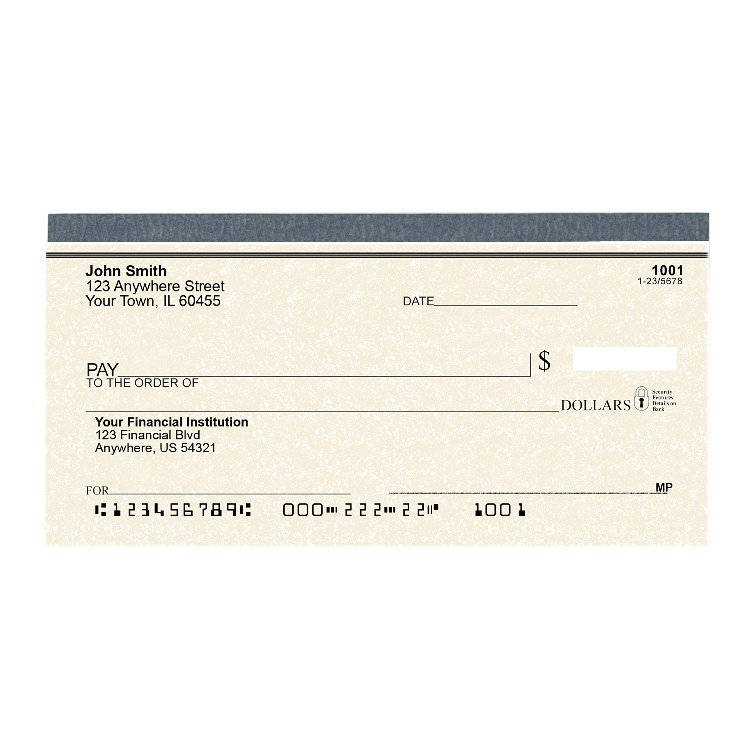 Parchment Personal Checks - Bank Checks Personalized and Printed for Your Checking Account - 4 Boxes of Duplicate Checks by Carousel Checks Inc.