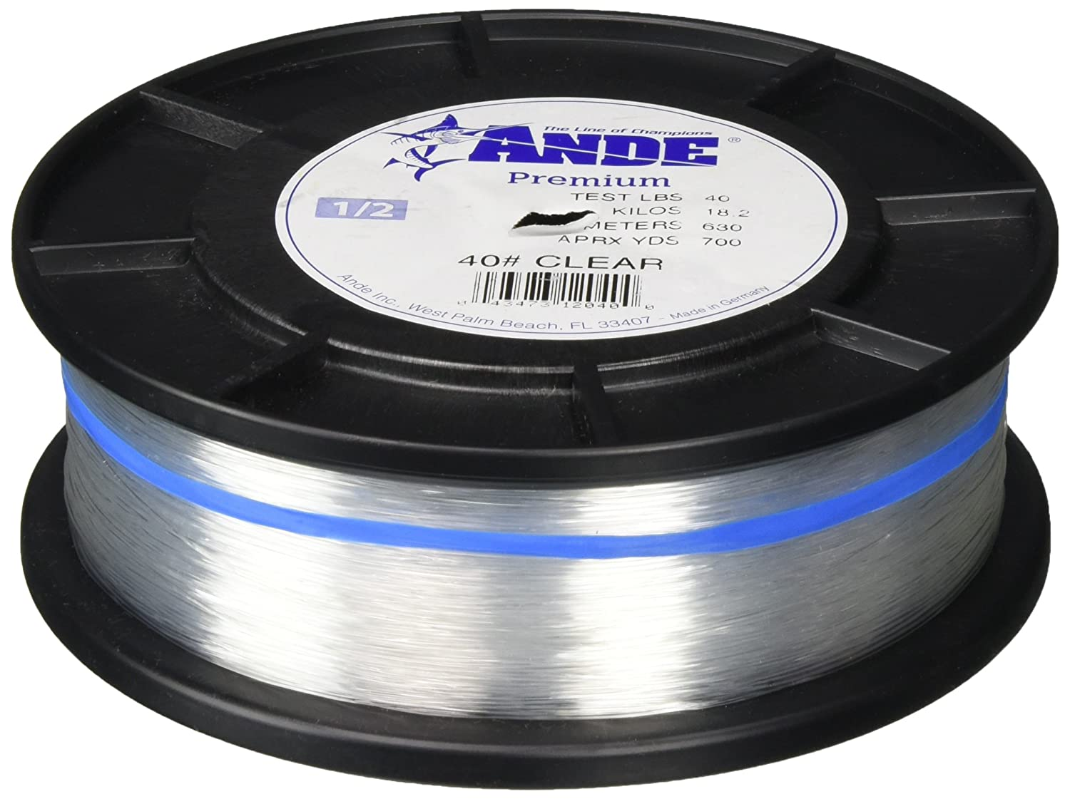 Ande Monofilament Line Clear, 40 -Pounds Test, 1 2 Spool