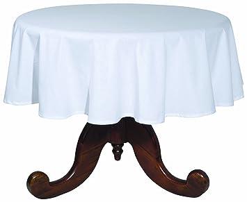 Now Designs 60 Inch Round Spectrum Tablecloth, White