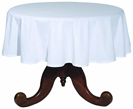 Now Designs 60-Inch Round Spectrum Tablecloth, White
