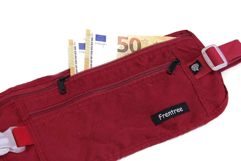 Noir Noir Frentree Sac Banane en Tissu Ultra Fin 100/% Coton pour Homme et Femme - G1793BK-2