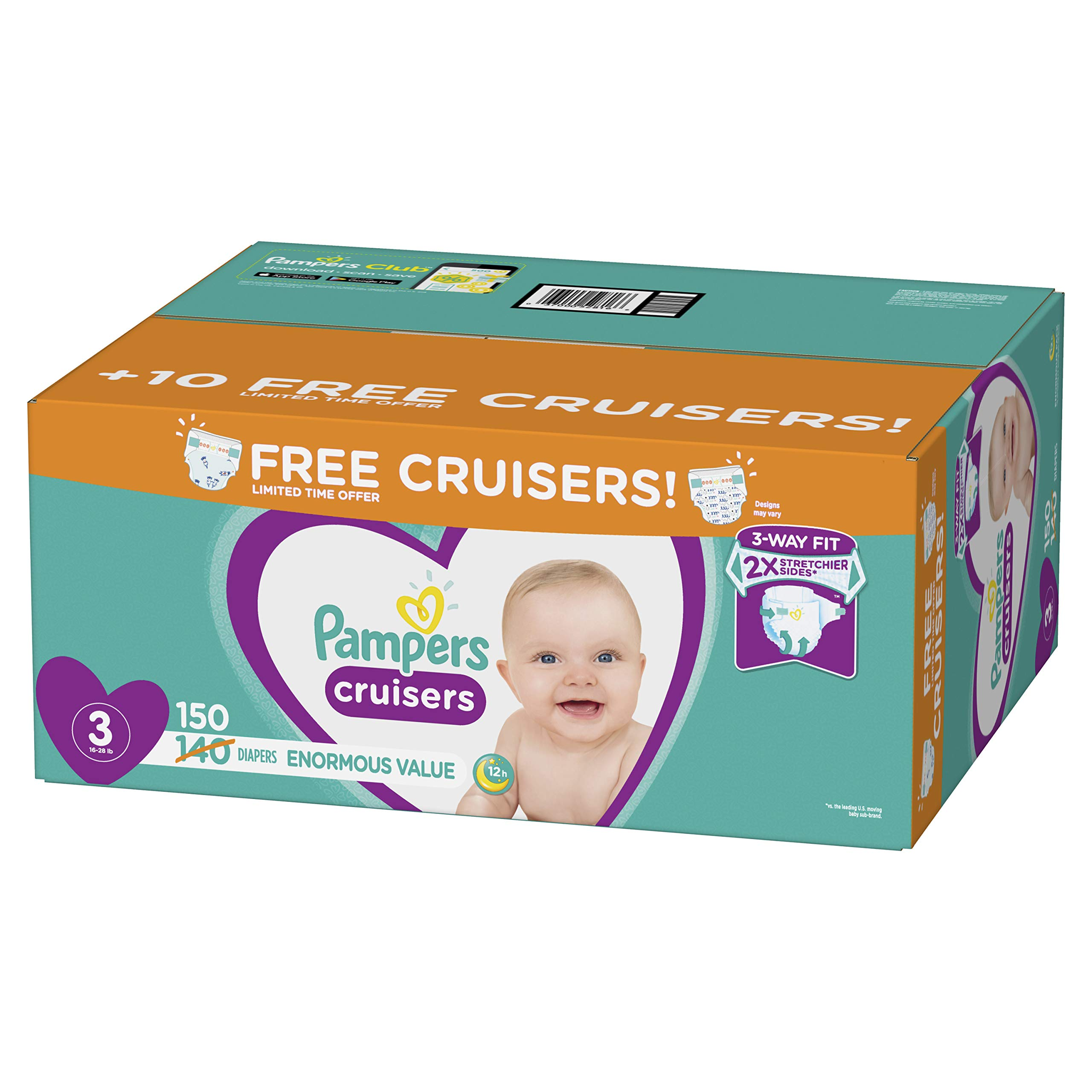 Pampers Cruisers Disposable Baby Diapers, Enormous Pack
