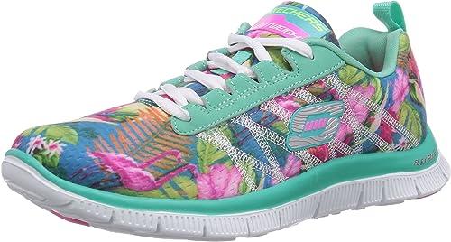 Skechers Flex Appeal Floral Bloom, Zapatillas de Deporte para Mujer