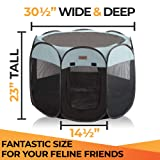 Pet Playpen for Indoor Cats and Small Dogs