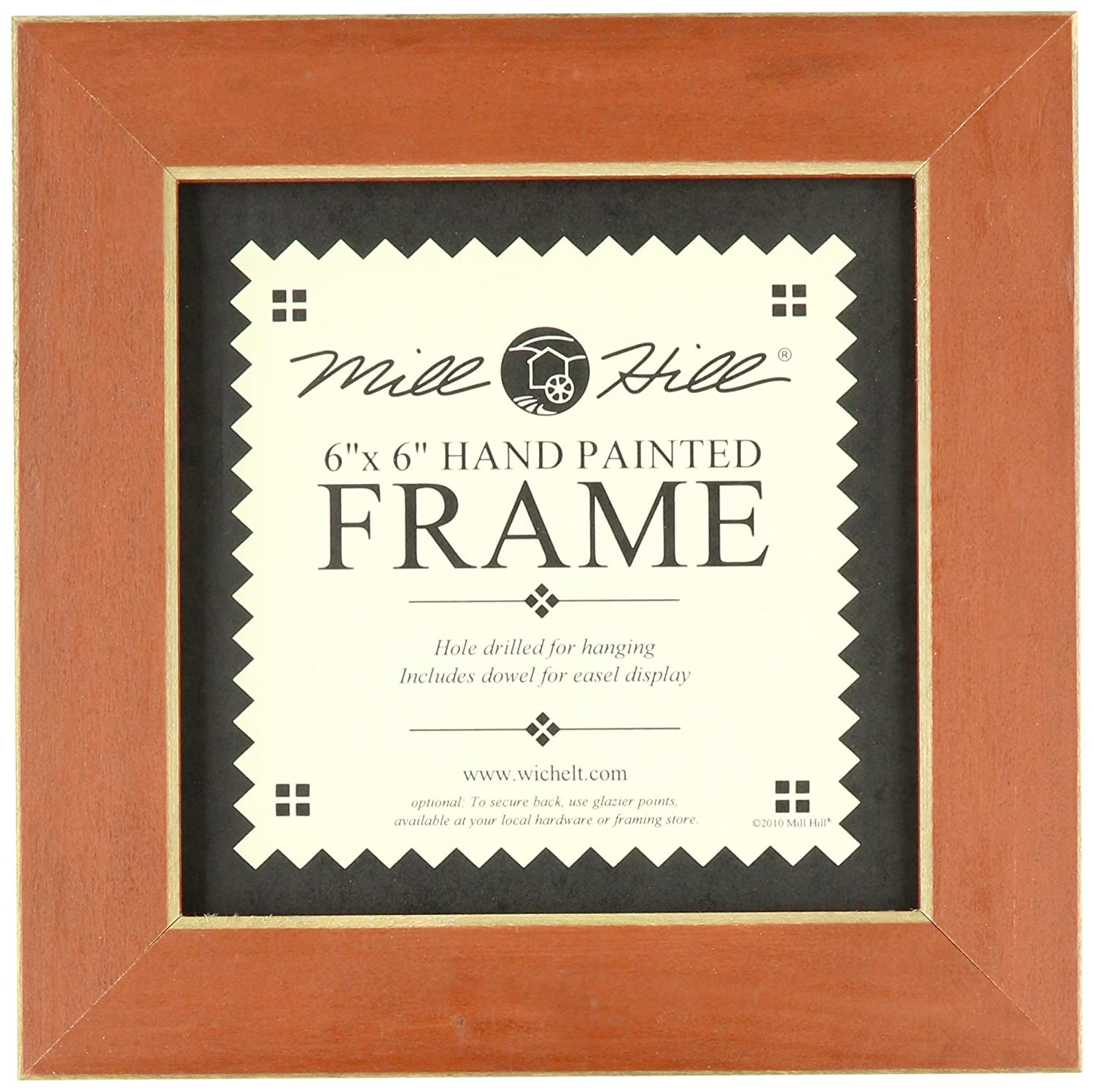 Amazoncom Mill Hill Wooden Frame 8 By 8 Inch Rust Single Frames