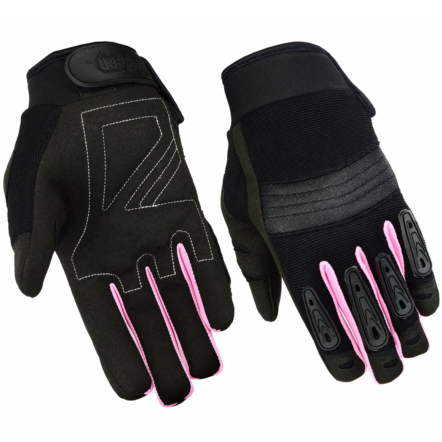 Womens Air Cooled No Sweat Knit Extreme Comfort Riding Glove (Medium, Pink/Black)