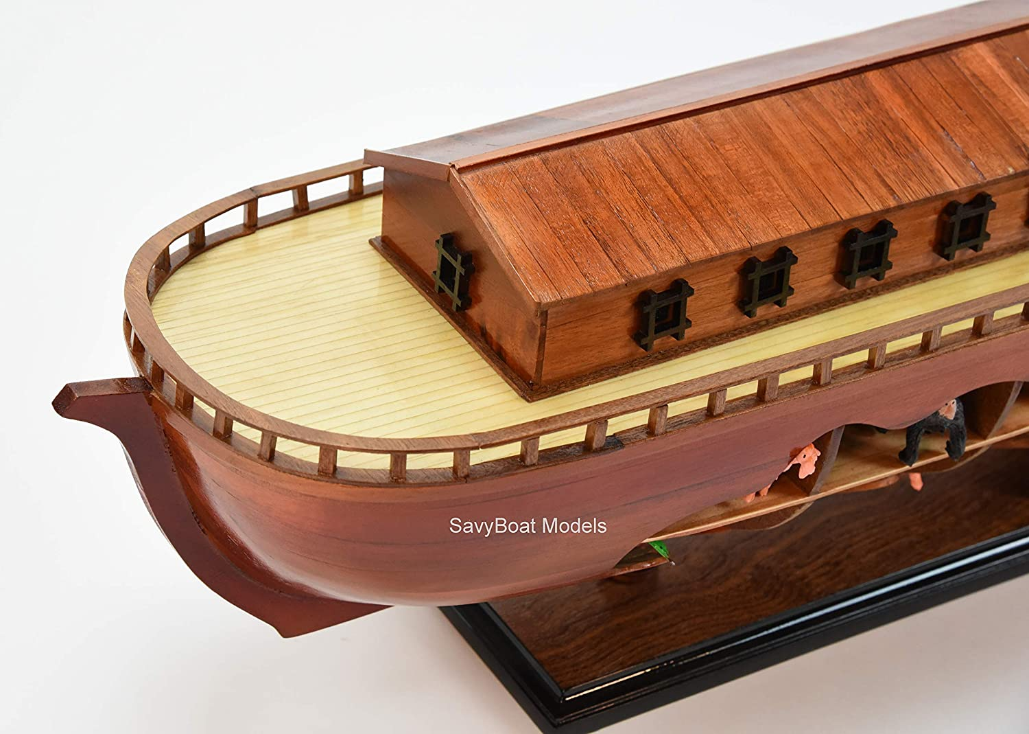 Large wooden Ark handmade with or without figures