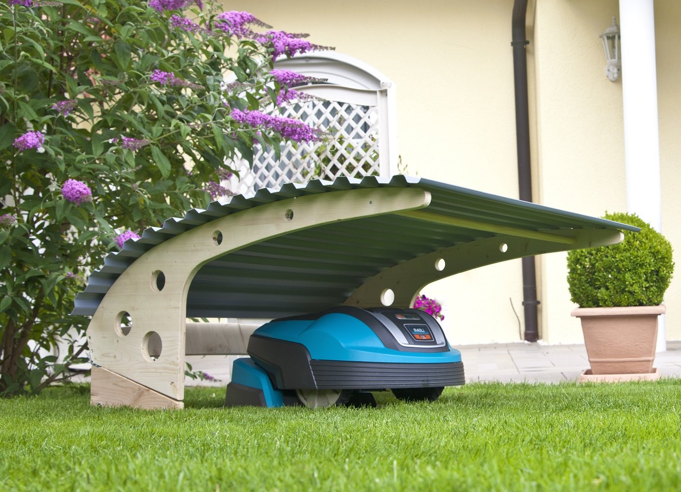 ROBOGARD Carport Überdachung für Mähroboter