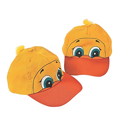 Amazon.com  Fun Express - Luau Ducky Shaped Baseball Cap for Party ... 592e2bd80766