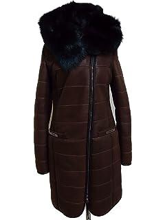 Lammfell mantel mit kaputze