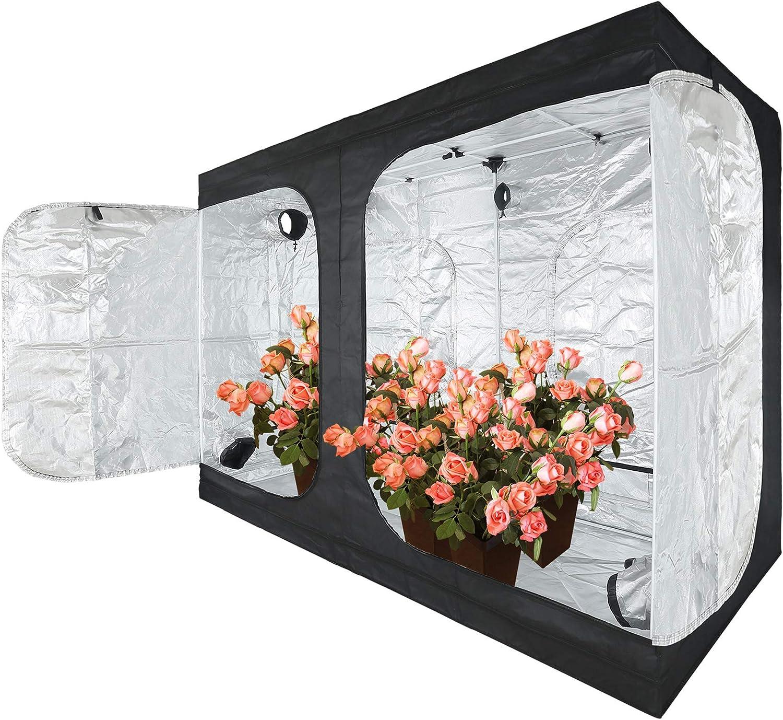 "JT Jupetory Grow Tent 96""x48""x80"" 8x4 2x2 4x4 4x2 Mylar Hydroponic Grow Tent with Removable Floor Tray for Indoor Plant Growing Garden Growing Dark Room(96x48x80 cm)"