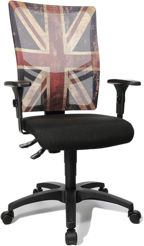 Topstar NX40PGC2 Royaume Uni Young Line Urban 10 Chaise de Bureau Noir/Rouge 48 x 48 x 110 cm