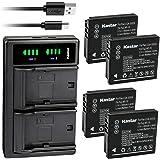 Kastar 4-Pack LB080 Battery and LTD2 USB Charger Replacement for Kodak LB-080 Battery, Kodak PIXPRO SP1, PIXPRO SP1 HD, PIXPR