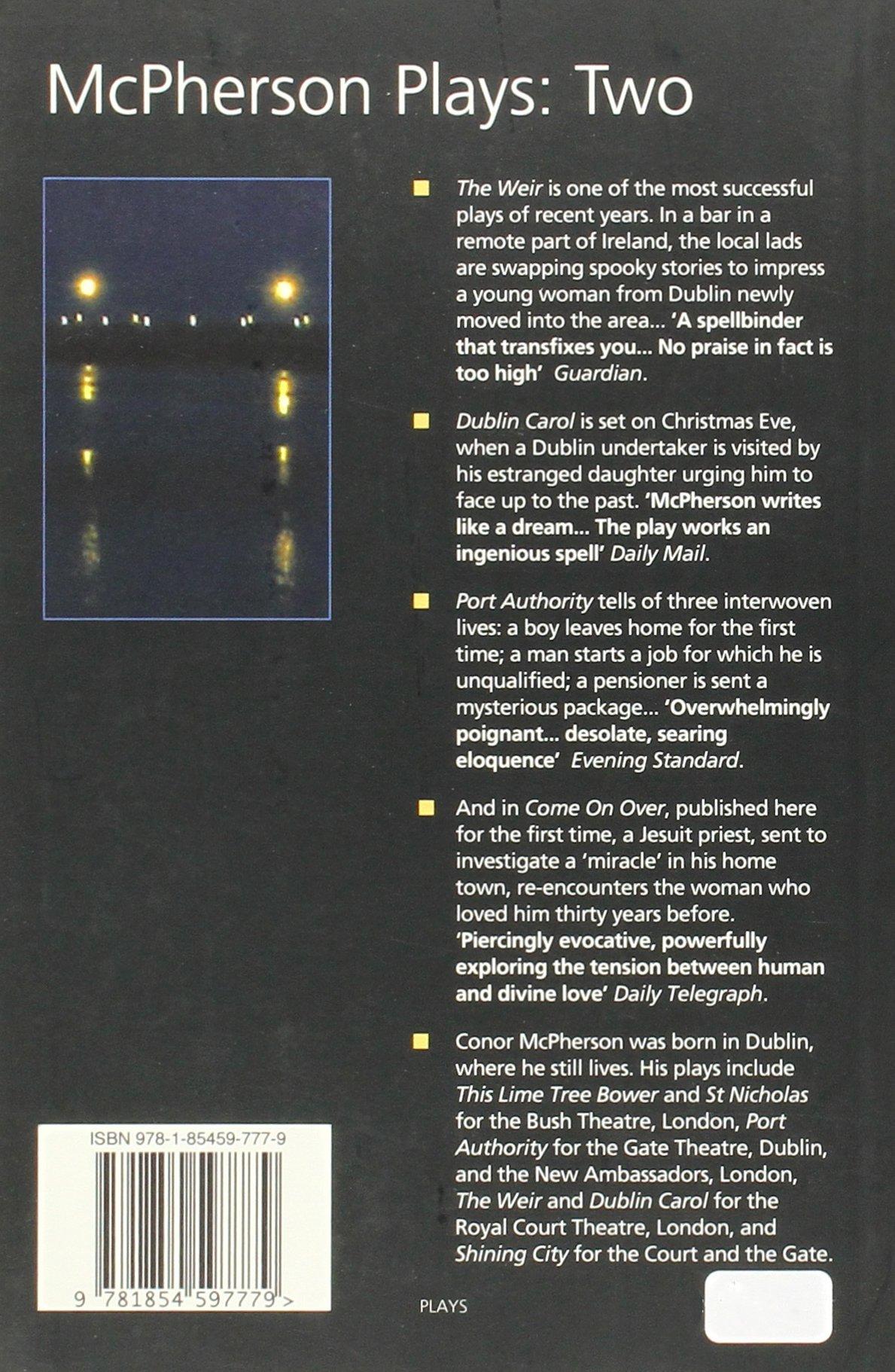 mcpherson collected plays volume ii conor mcpherson 9781854597779 amazoncom books
