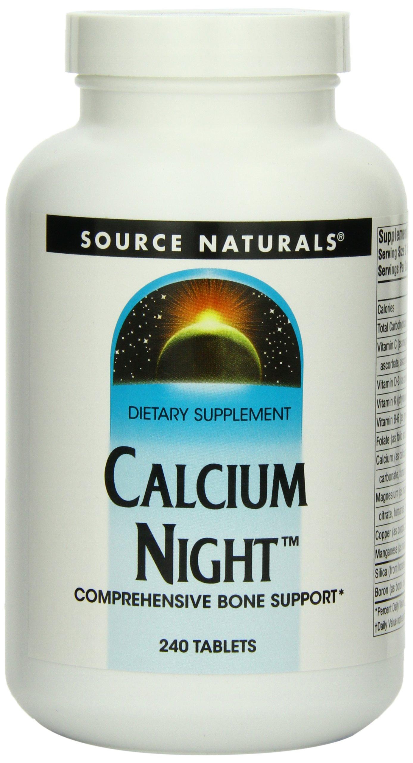 Source Naturals Calcium Night, 240 Tablets