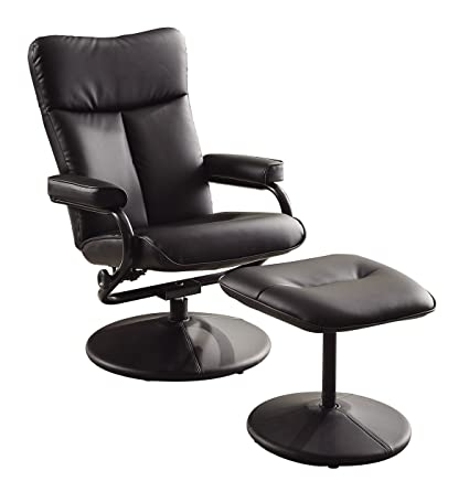 Wondrous Amazon Com Homelegance 8555Blk 1 Swivel Reclining Chair Pdpeps Interior Chair Design Pdpepsorg
