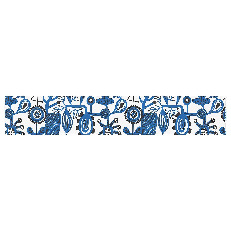Kess InHouse Agnes Schugardt Dream Blue White Table Runner
