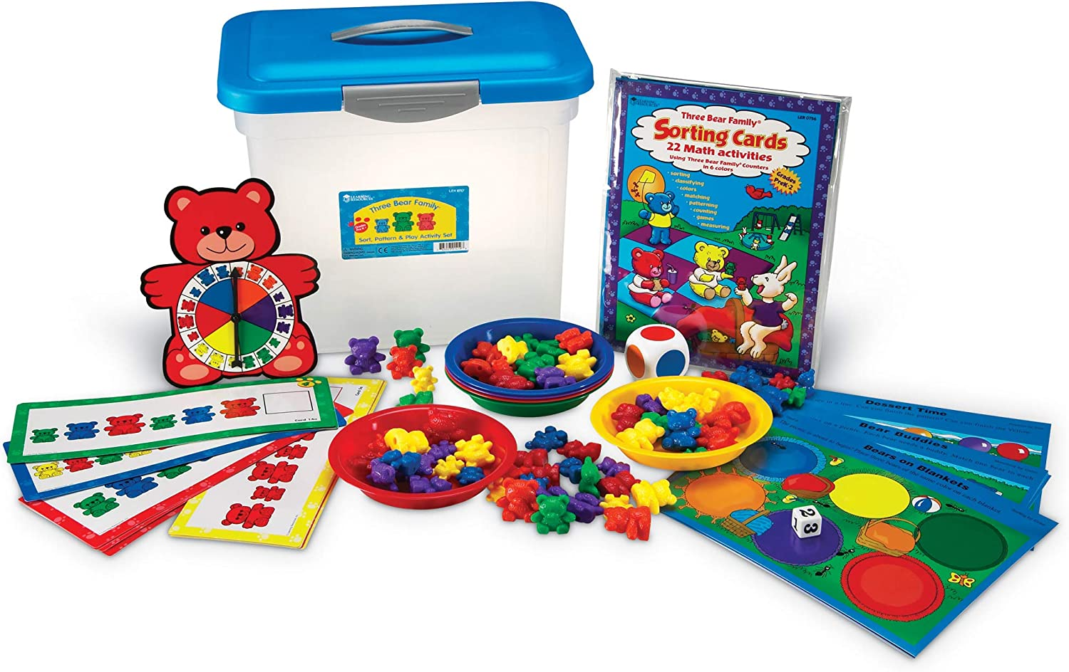 Ages 3+ Early Learning 16pcs Learning Resources Bears Pattern Cards