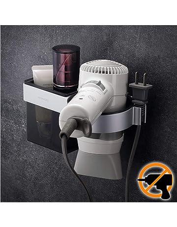 Wangel Soporte de Pared para Secador de Pelo, Pegamento Patentado + Autoadhesivo 3M, Barbershop