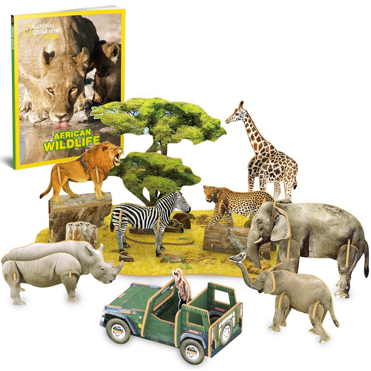 CubicFun - Puzzle con diseño de Animales y Naturaleza en 3D, Divertido para Que los niños jueguen con Delicado folleto: Amazon.es: Juguetes y juegos