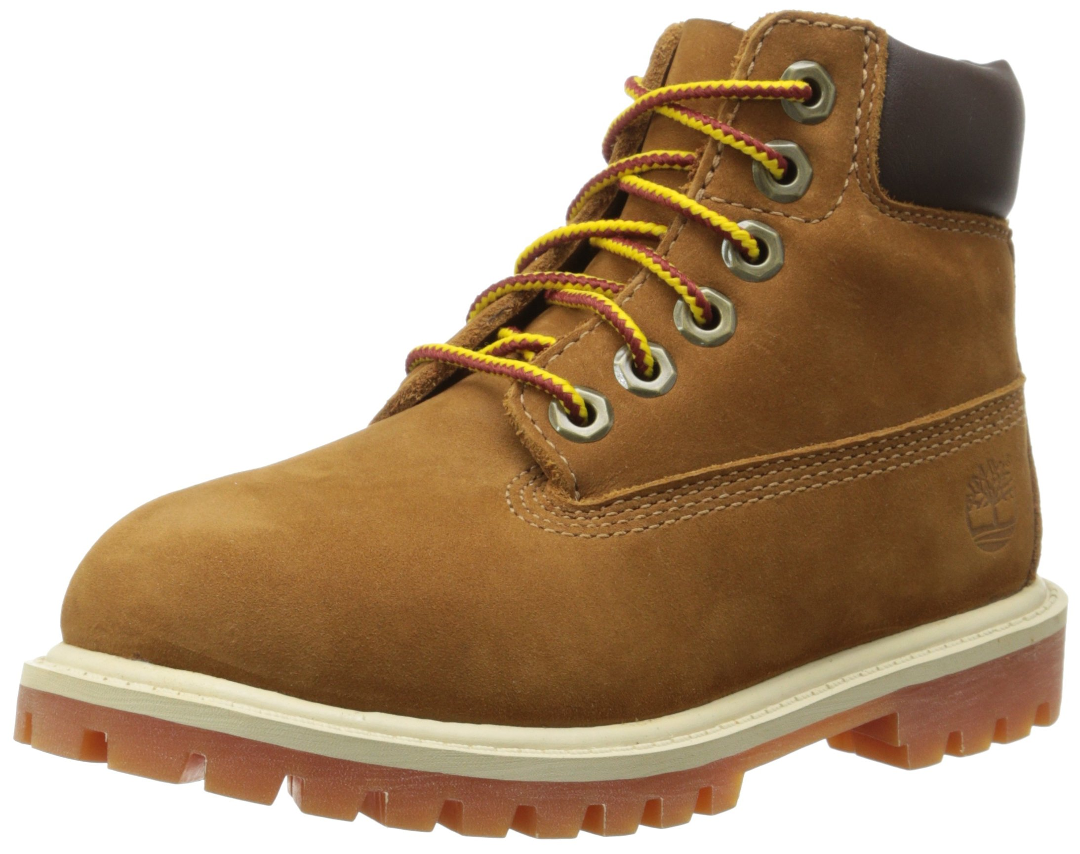 Timberland 6'' C12907 Premium Waterproof Boot,Rust Nubuck/Honey,5.5 M US Big Kid by Timberland
