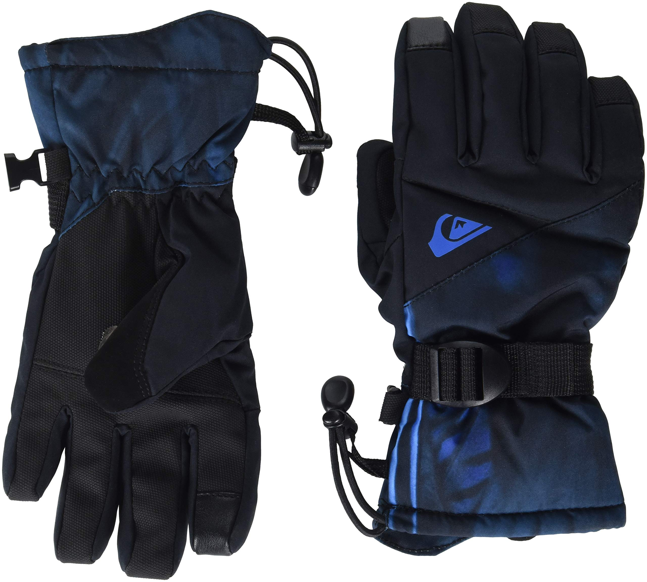 Quiksilver Boys' Big Mission Youth Glove TECH Snow GOLVE, Daphne Blue Stellar, L
