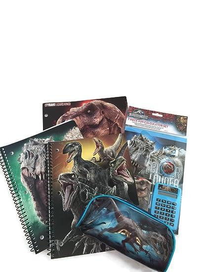 Jurassic World Back To School Supply Bundle Of 5 Items 1 Folder 2