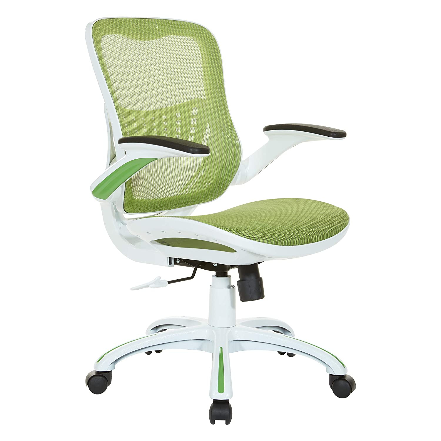 Office Star Mesh Seat and Back Riley Office Chair, Green