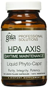 Gaia Herbs Hpa Axis Daytime Maintenance Adrenal Support Liquid PhytoCapsules, 120 Count