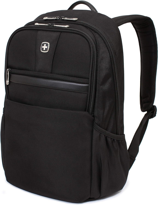 SWISSGEAR Durable 15-inch Laptop Backpack Padded Computer Sleeve Travel, Work, School Men s and Women s – Black