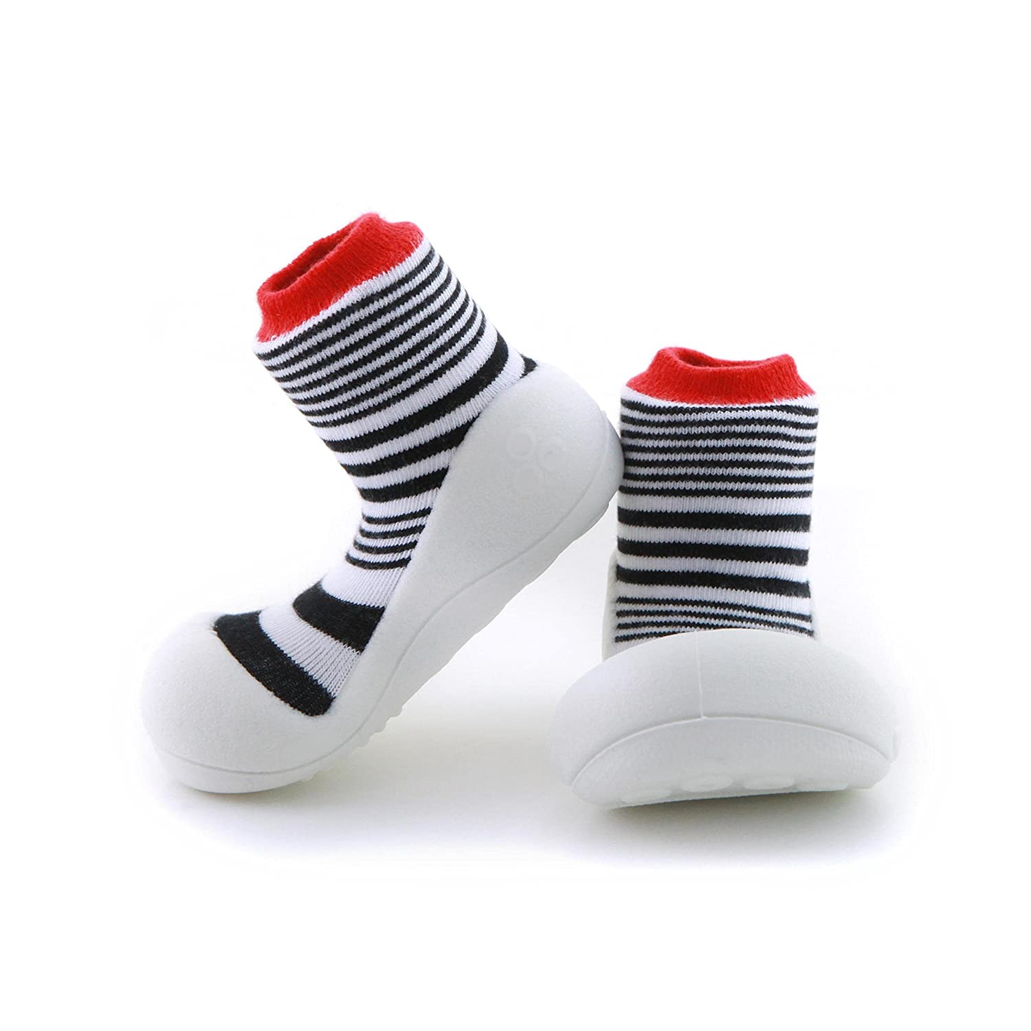 First Walking Shoes with Socks for Baby Boys Girls (Small, Urban Red) BigToes