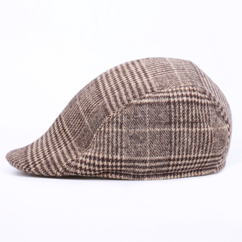 1622ff837cedb Classic Men's Newsboy Hat - Plaid Pattern Ivy Driver Hunting Flat Winter  Warm Hats at Amazon Women's Clothing store: