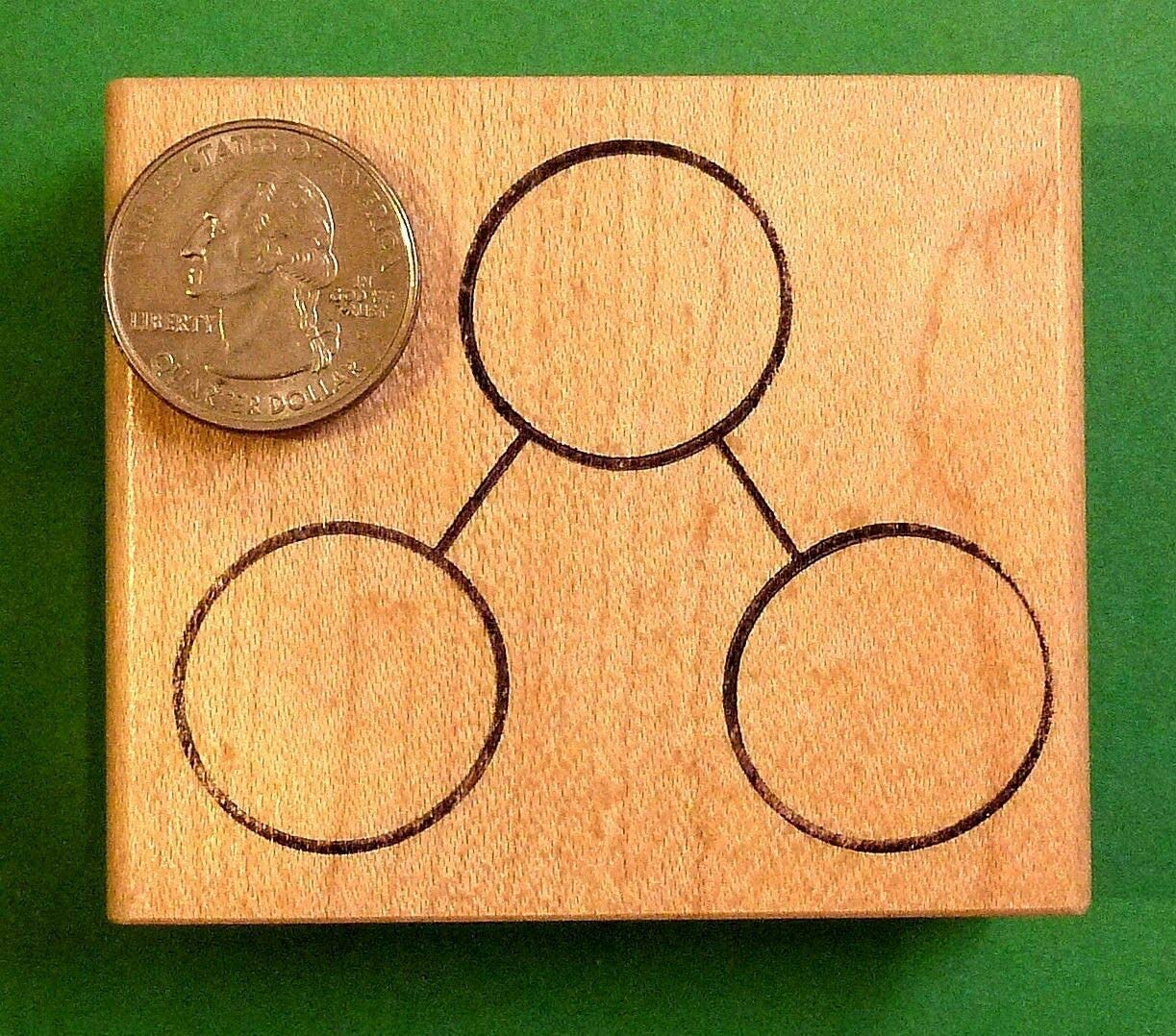 Regular Size Total//Parts Number Bond Wood Mtd Rubber Stamp for Singapore Math
