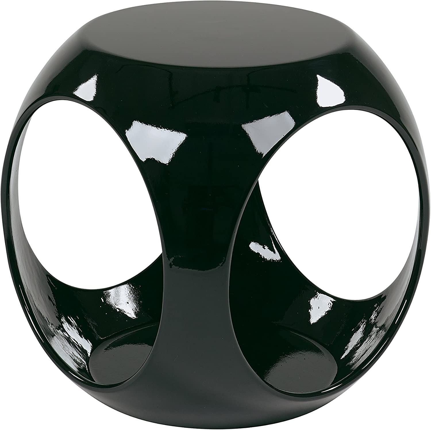 Ave Six Slick High Gloss Finish Cube Occasional Table, Black