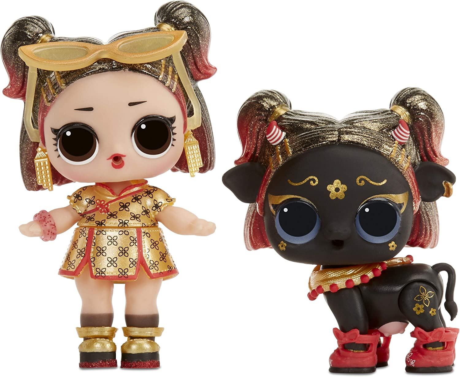 Limited Ed Lol Surprise Chinese Girl GOLDEN OX 2021 YEAR OF THE OX Set Of 2