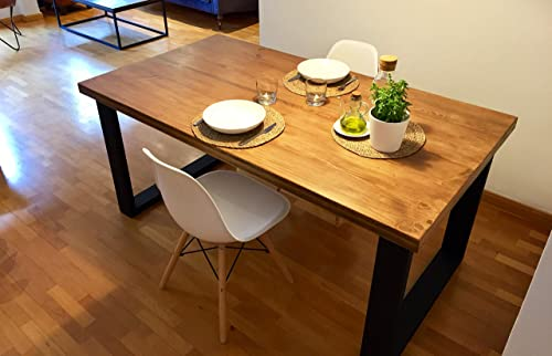 ferHandmade bois en Table manger et à fb6Yv7gy