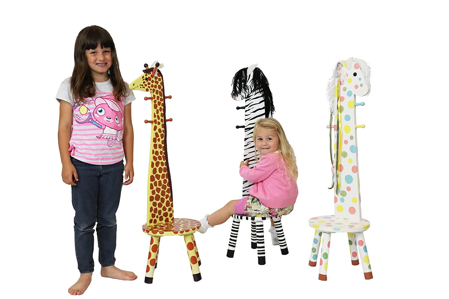 Amazon.com: Teamson Kids   Safari Stool With Coat Rack   Giraffe: Toys U0026  Games Images