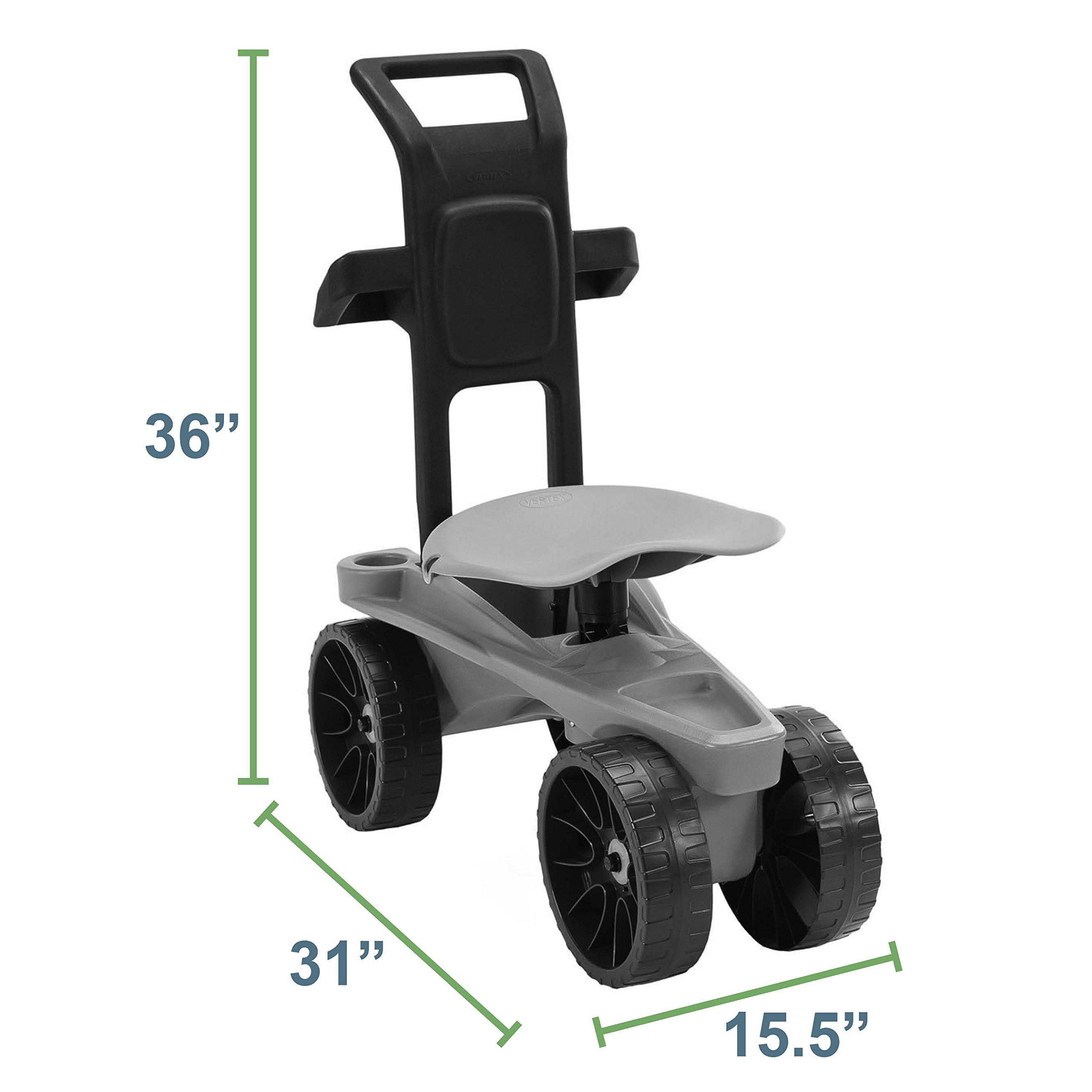 Easy Up Deluxe XTV Rolling Garden Seat and Scoot - Adjustable Swivel Seat, Heavy Duty Wheels, and Ergonomic Design To Assist Standing, Sitting, and Bending Over Made in the USA (Deluxe XTV Teal) by Vertex (Image #8)