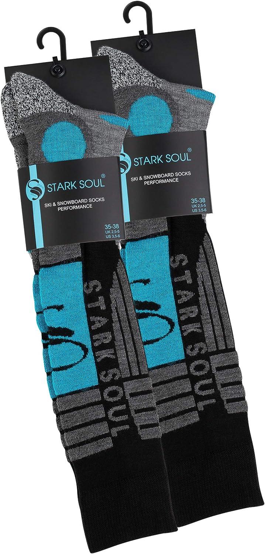 Lot de 2 paires de chaussettes hautes de ski//snowboard dorigine de VCA/® renfort sp/écial