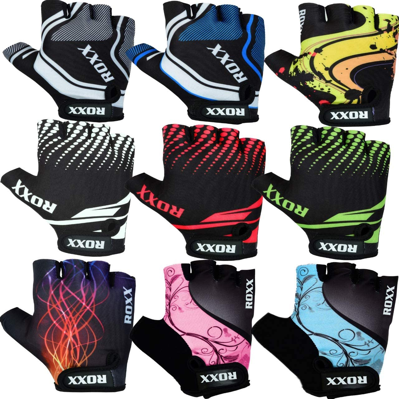 Ladies Cycling Half Finger Gloves Biker Bicycle Sports Mitts Fingerless