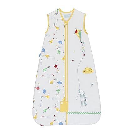 Grobag – Saco para bebe Unisex - 2.5 tog – Color Blanco con Detalles Amarillos–
