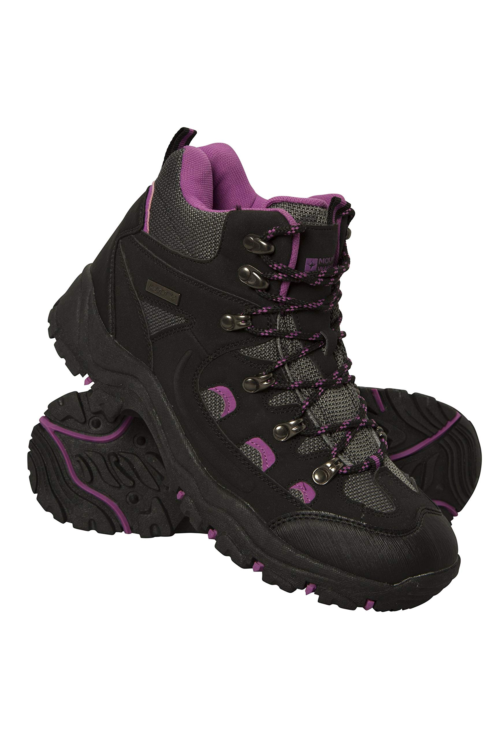 Mountain Warehouse Adventurer Womens Waterproof Boots - for Hiking Black Womens Shoe Size 8 US by Mountain Warehouse