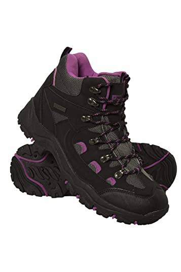 8edfaed6466 Mountain Warehouse Adventurer Womens Waterproof Boots - Durable Hiking  Shoes, Breathable, Synthetic Upper, Mesh Lining, Cushioned Footbed - Ideal  for ...