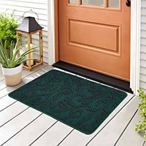 """Doormat Outdoor Indoor Home Mat Non Slip Waterproof Washable Quickly Absorb Moisture and Resist Dirt Rugs for Door Entrance, Kitchen, Flat and Office (32"""" x 48"""", Leaves 13)"""