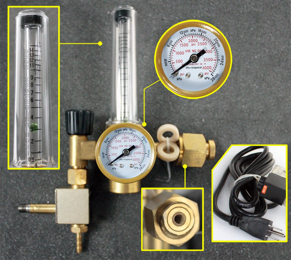 QuestCraft Extoic CO2 Injection System Regulator Grow Room Hydroponics Flow Meter Control