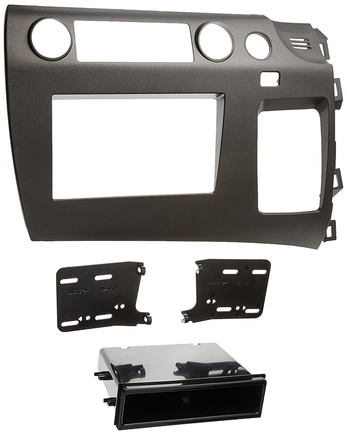 Metra 99-7871 Single DIN/Double DIN Installation Kit for 2006-2009 Honda Civic Vehicles Charcoal Grey