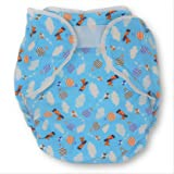 Rearz - Bulky Fitted Nighttime Cloth Diaper (Blue - Airplanes) (Large/X-Large)